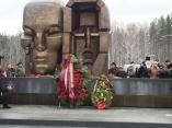 Торжественное открытие скульптуры Эрнста Неизвестного «Маски скорби»