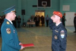 Торжественная клятва у курсантов первого курса